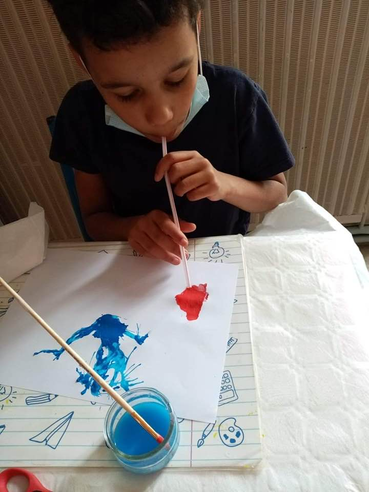 Peinture à la paille